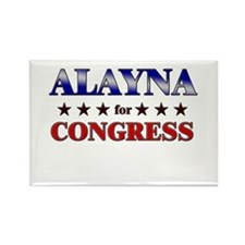 ALAYNA for congress Rectangle Magnet
