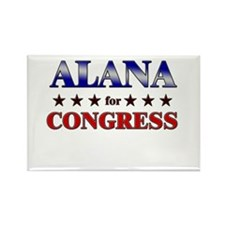 ALANA for congress Rectangle Magnet