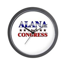 ALANA for congress Wall Clock