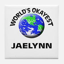 World's Okayest Jaelynn Tile Coaster