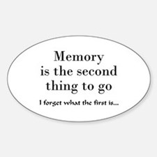Memory Oval Decal
