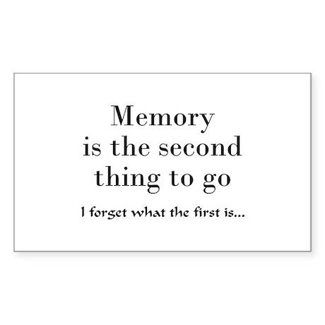 Memory Rectangle Sticker