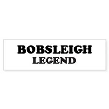 BOBSLEIGH Legend Bumper Car Sticker
