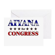 AIYANA for congress Greeting Card