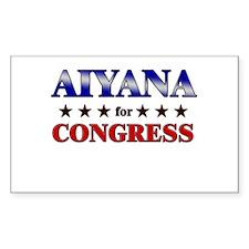 AIYANA for congress Rectangle Decal