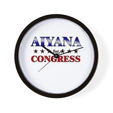 AIYANA for congress Wall Clock