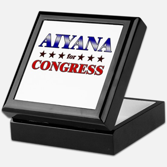 AIYANA for congress Keepsake Box