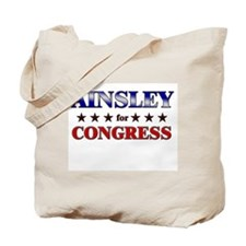 AINSLEY for congress Tote Bag