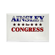 AINSLEY for congress Rectangle Magnet