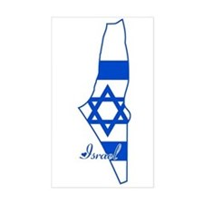 Cool Israel Rectangle Decal