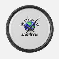 World's Okayest Jasmyn Large Wall Clock