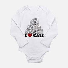 I Love CATS CUTE Body Suit