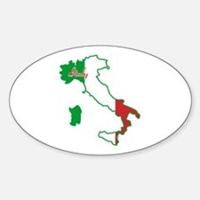 Cool Italy Oval Decal