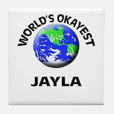 World's Okayest Jayla Tile Coaster