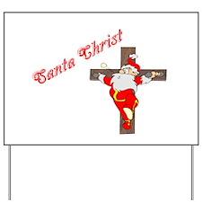 Santa Christ Christmas Gifts Yard Sign