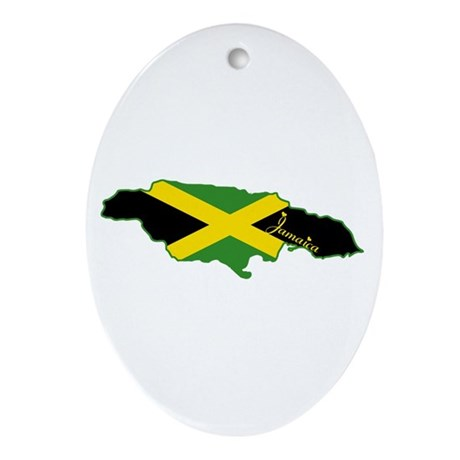 Cool Jamaica Oval Ornament