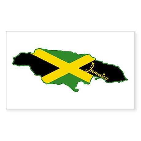 Cool Jamaica Rectangle Sticker