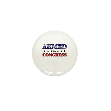 AHMED for congress Mini Button