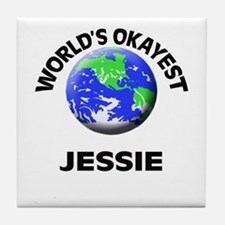World's Okayest Jessie Tile Coaster
