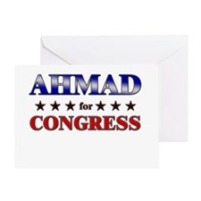 AHMAD for congress Greeting Card