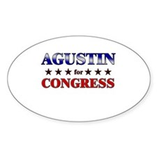 AGUSTIN for congress Oval Decal