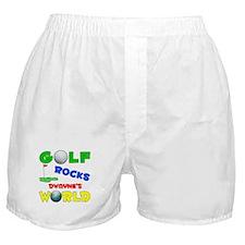 Golf Rocks Dwayne's World - Boxer Shorts