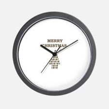 MERRY CHRISTMAS NUMBER TREE Wall Clock