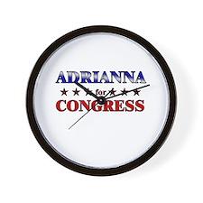 ADRIANNA for congress Wall Clock