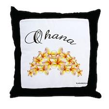"""""""OHANA~PLUMERIA"""" Throw Pillow"""