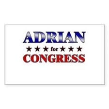 ADRIAN for congress Rectangle Decal