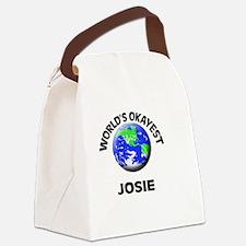 World's Okayest Josie Canvas Lunch Bag