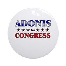 ADONIS for congress Ornament (Round)
