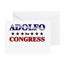 ADOLFO for congress Greeting Card