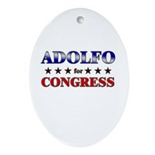 ADOLFO for congress Oval Ornament