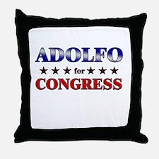 ADOLFO for congress Throw Pillow