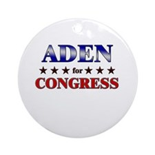ADEN for congress Ornament (Round)