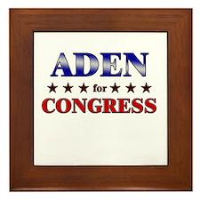 ADEN for congress Framed Tile