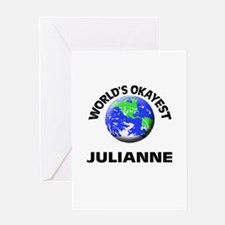 World's Okayest Julianne Greeting Cards