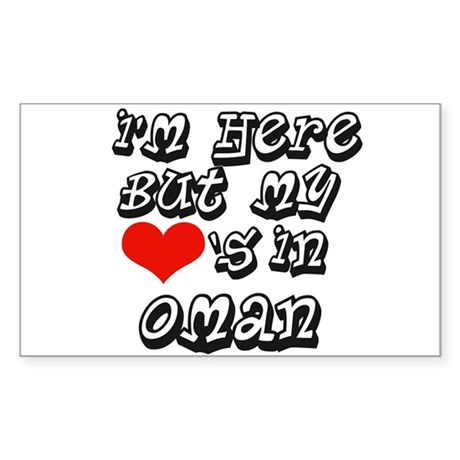my hearts in Oman Rectangle Sticker