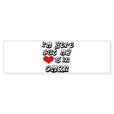 my hearts in Oman Bumper Sticker