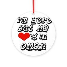 my hearts in Oman Ornament (Round)