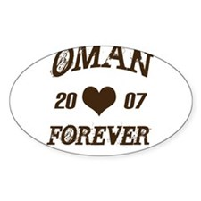 Oman Forever Oval Decal