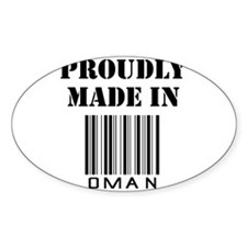 Proudly made in Oman Oval Decal