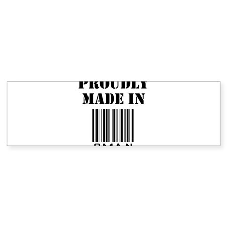 Proudly made in Oman Bumper Sticker