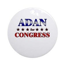 ADAN for congress Ornament (Round)