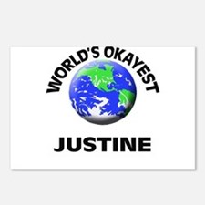 World's Okayest Justine Postcards (Package of 8)