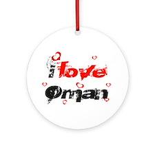 I love Oman Ornament (Round)