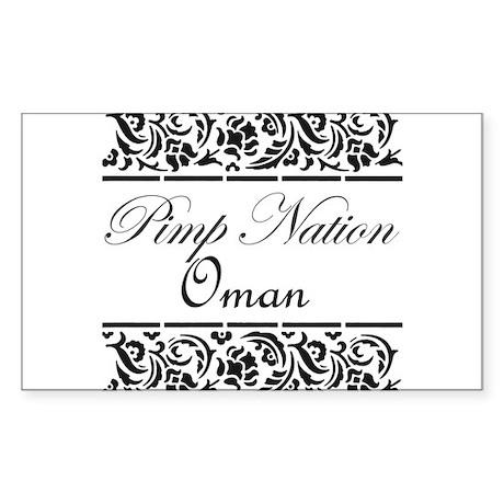 Pimp Nation Oman Rectangle Sticker