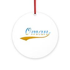 Oman Beach Ornament (Round)