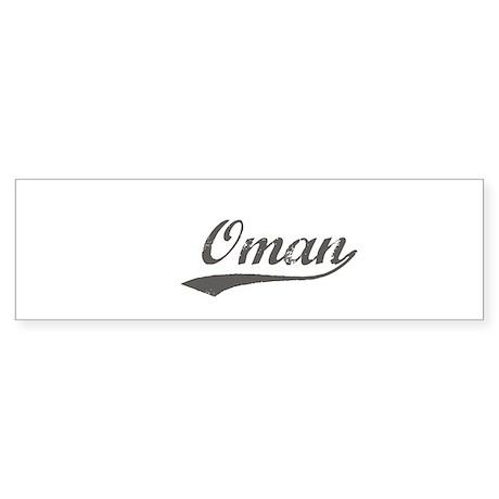 Oman flanger Bumper Sticker